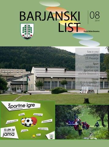 Barjanski list avgust 2014