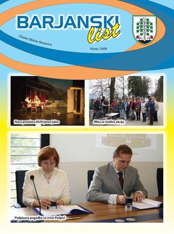 Barjanski list marec 2009