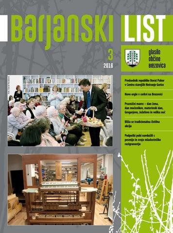 Barjanski list marec 2016