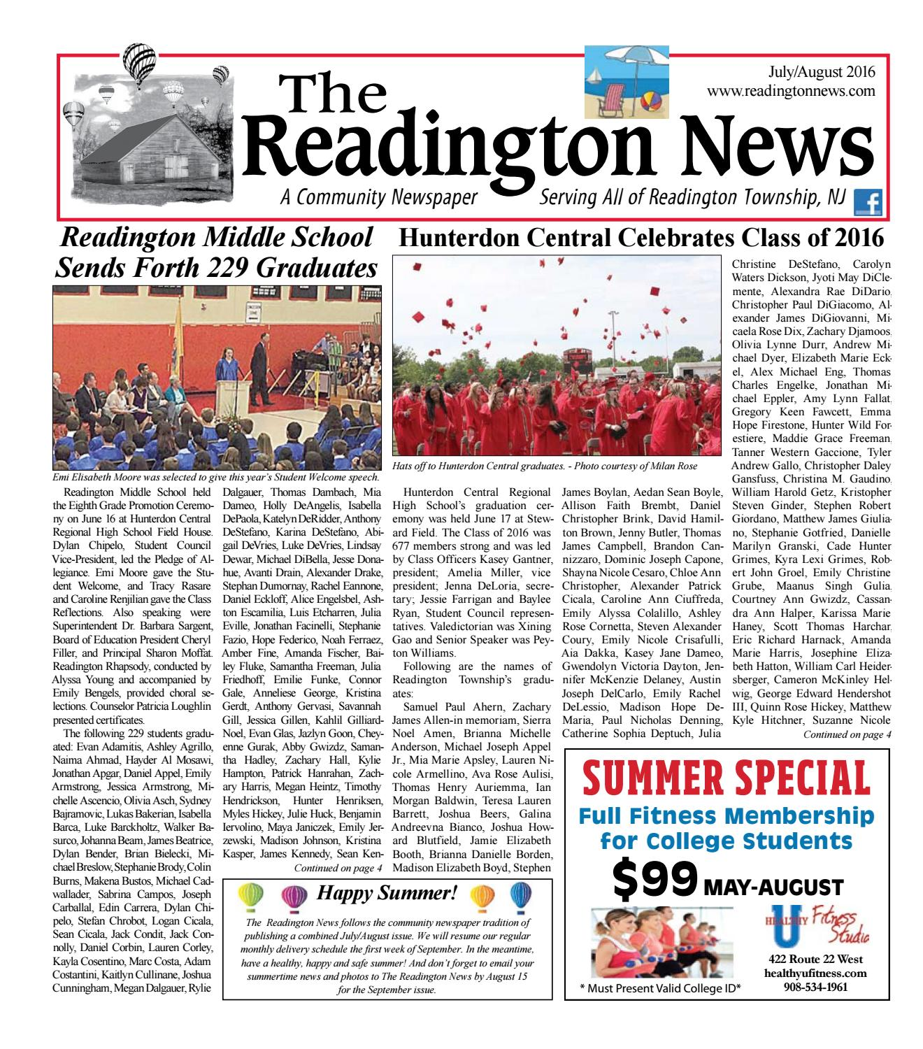 Middle School Hal Monthly News: Rd 0716 Web By Town Media