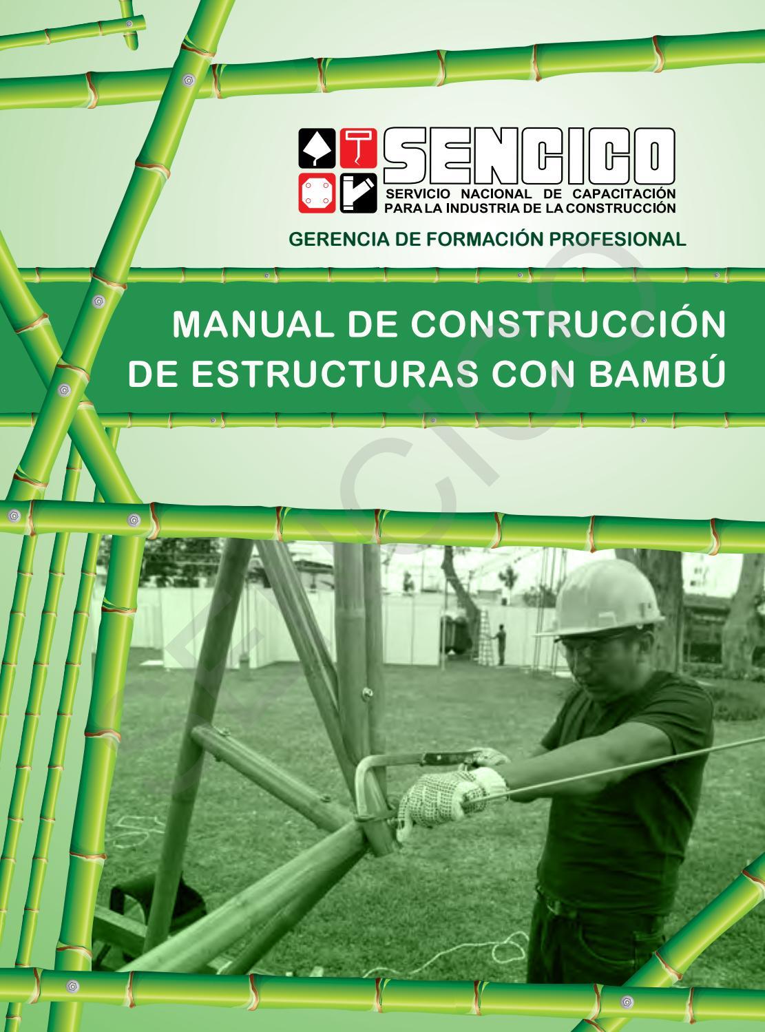 Manual de construcci n de estructuras de bamb by george for Manual de construccion