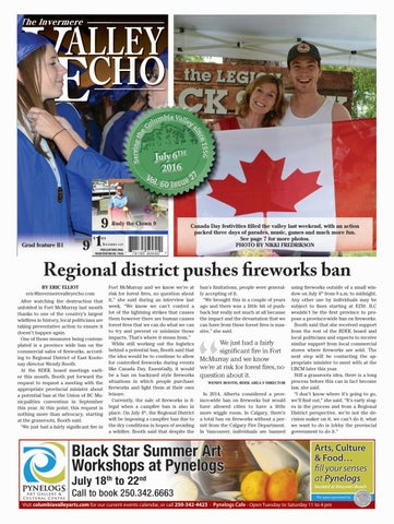 Invermere Valley Echo, July 6, 2016
