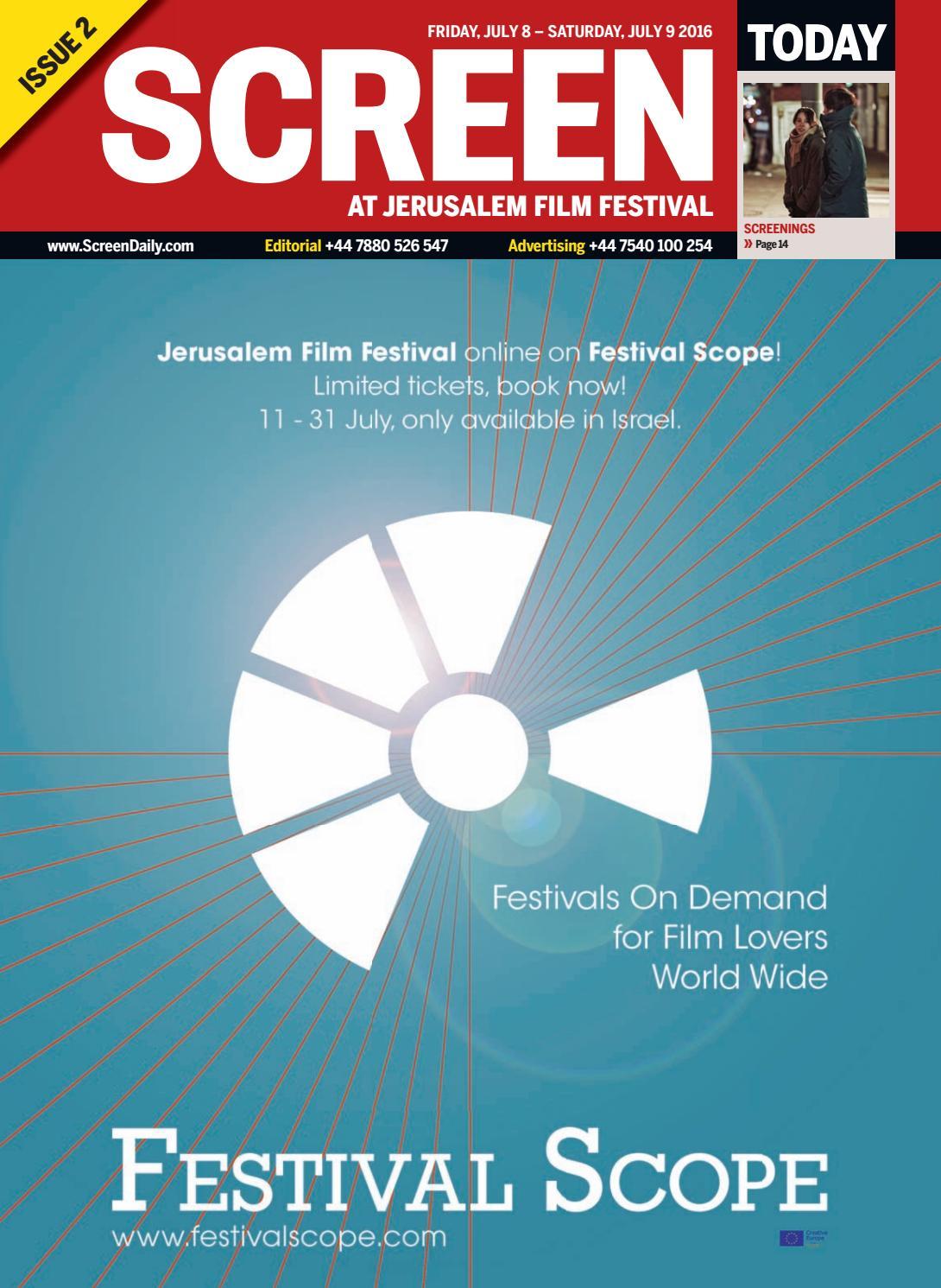 screen jeru m film festival 2016 day 3 by media business screen jeru m film festival 2016 day 2