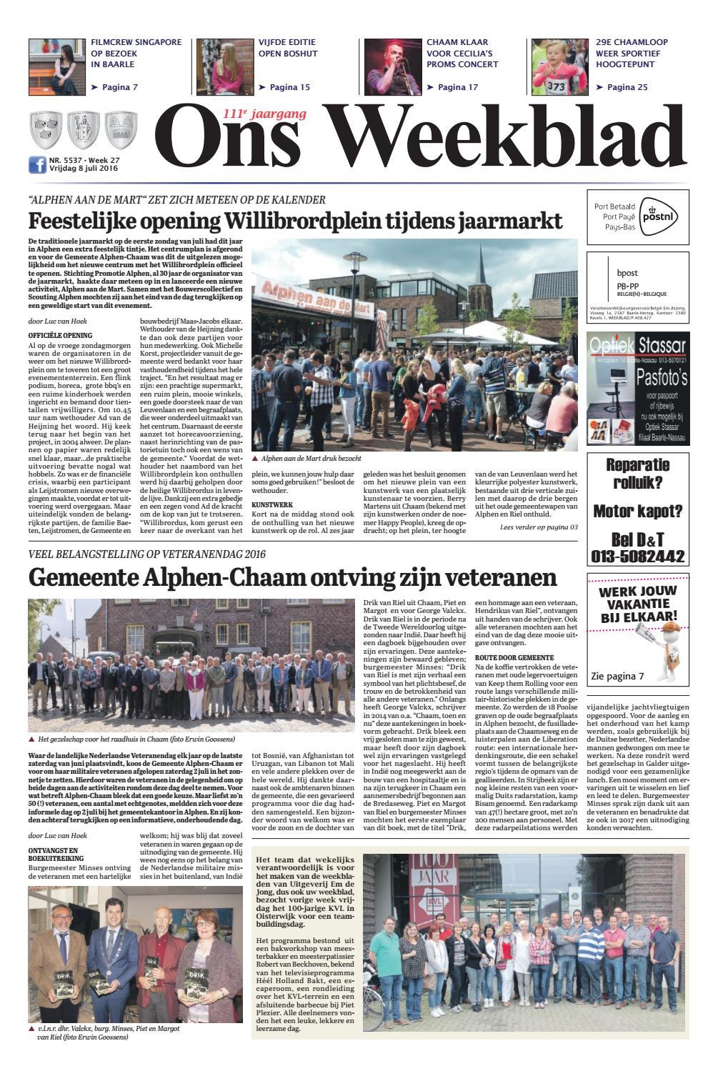 Ons weekblad 08 07 2016 by uitgeverij em de jong   issuu