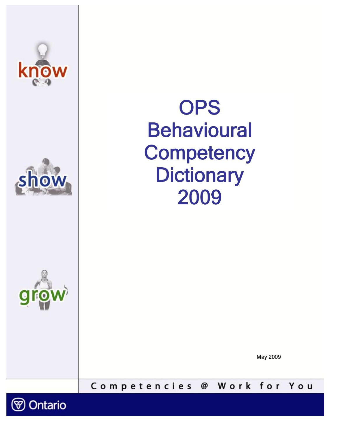 commanding officer s suicide prevention program handbook by u s ops behavioural competency dictionary