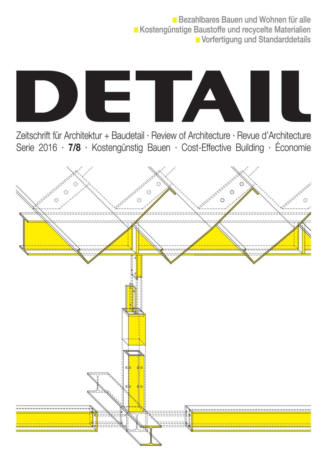 Detail 7 8 2016 Kosteng 252 Nstig Bauen By Detail Issuu