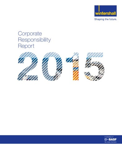 Corporate responsibilty report 2015 (English)