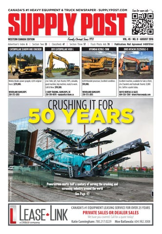 Supply Post Western Cover - August 2016