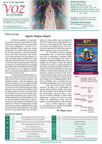 [Jornal Santa Rosa de Lima – Agosto/2016]
