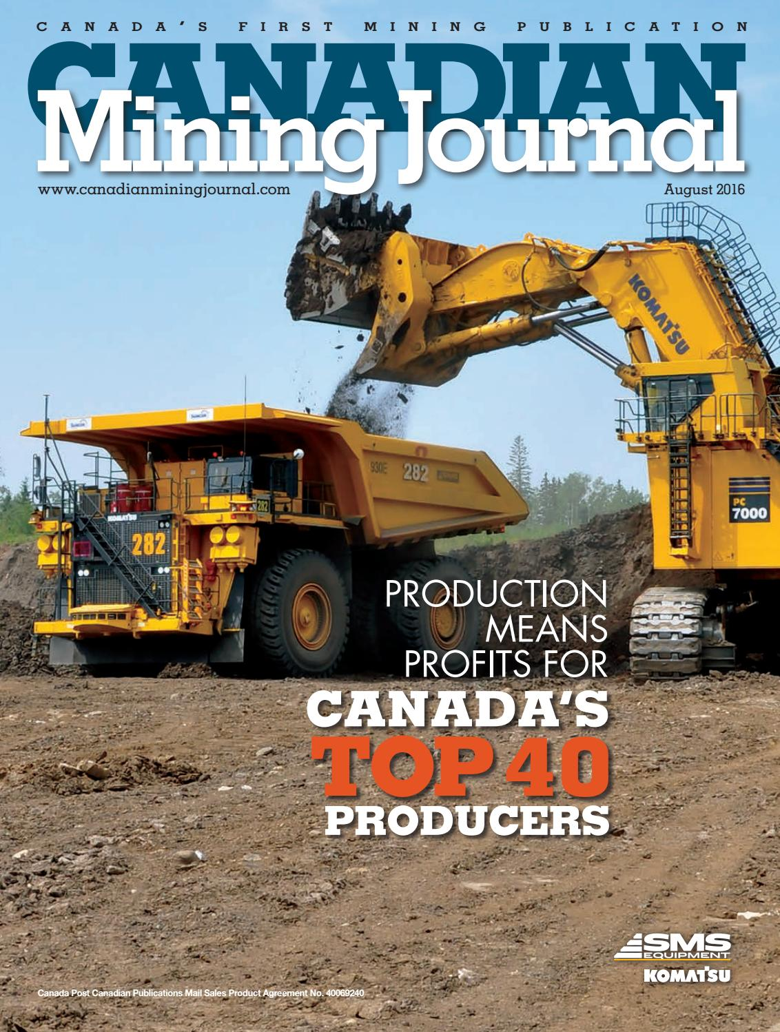 canadian mining journal august 2016