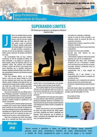 Boletim Informativo IPID     31 de Julho de 2016