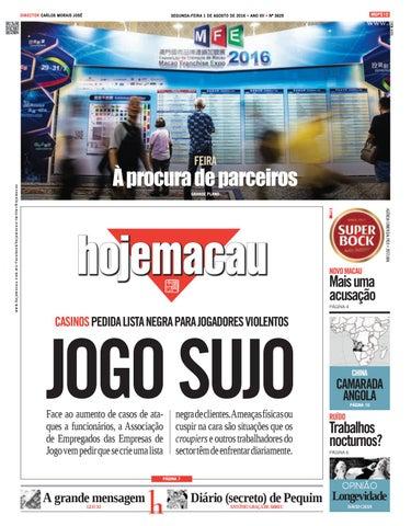 Hoje Macau 1 AGO 2016 #3625