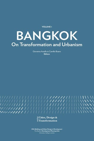 Bangkok. On Transformation and Urbanism on Issuu