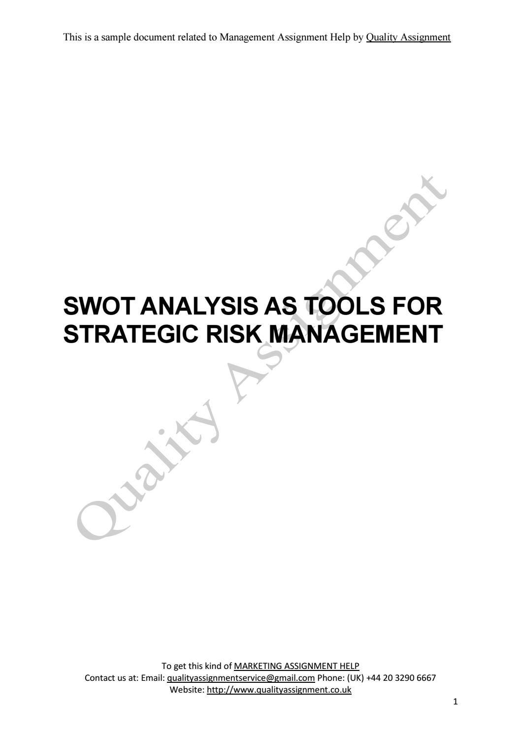 swot analysis marketing assignment sample for university students swot analysis marketing assignment sample for university students by williamriley