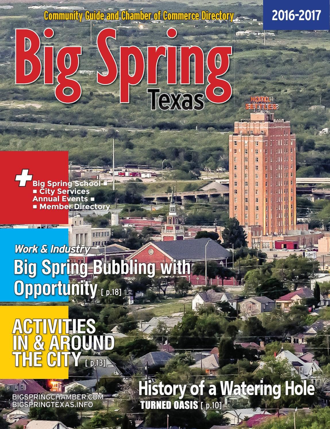 big spring chamber guide by mesa publishing corp blue sky 2016 big spring chamber guide by mesa publishing corp blue sky productions issuu