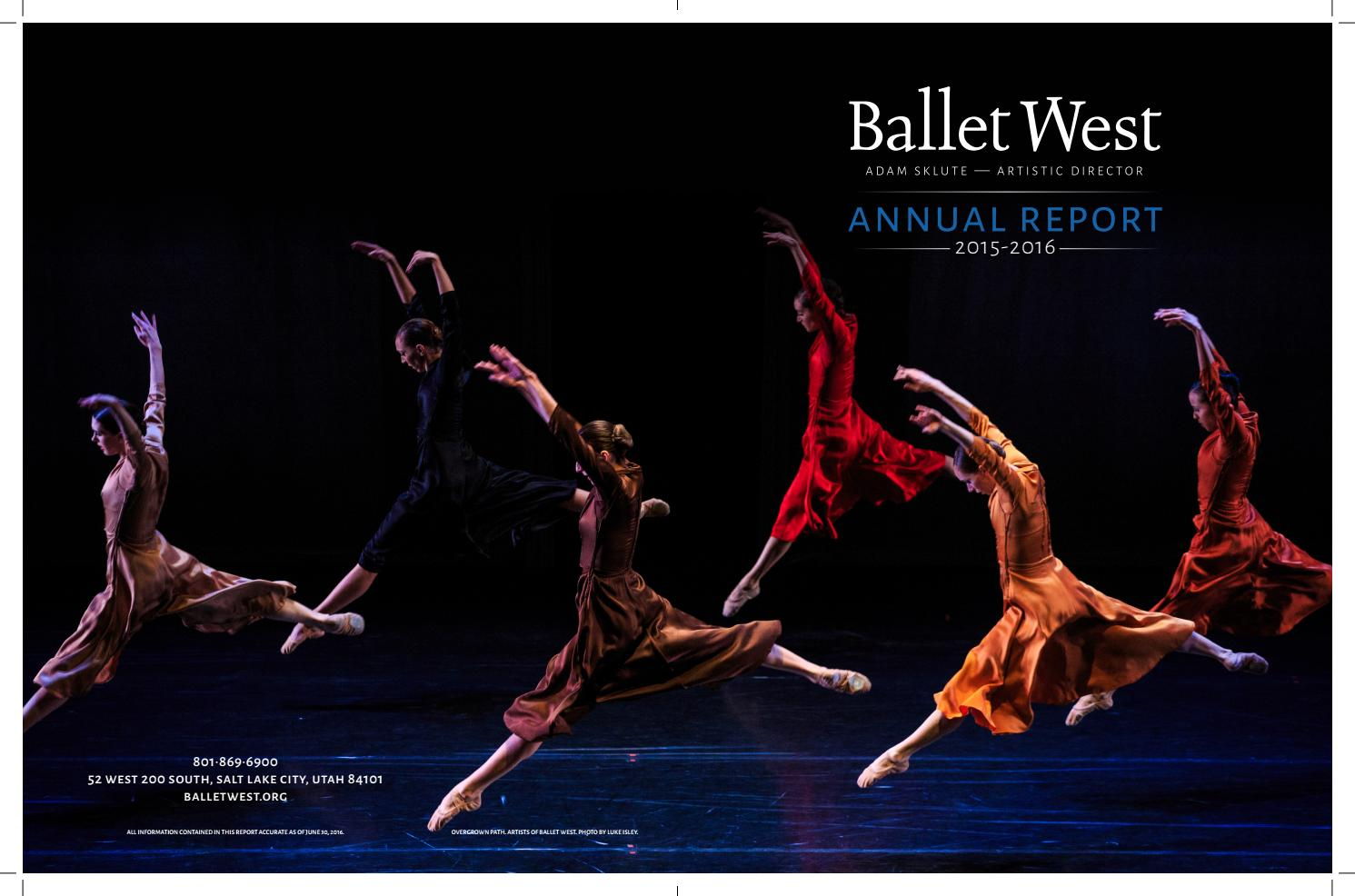 2014 2015 annual report by ballet west issuu ballet west 2015 2016 annual report