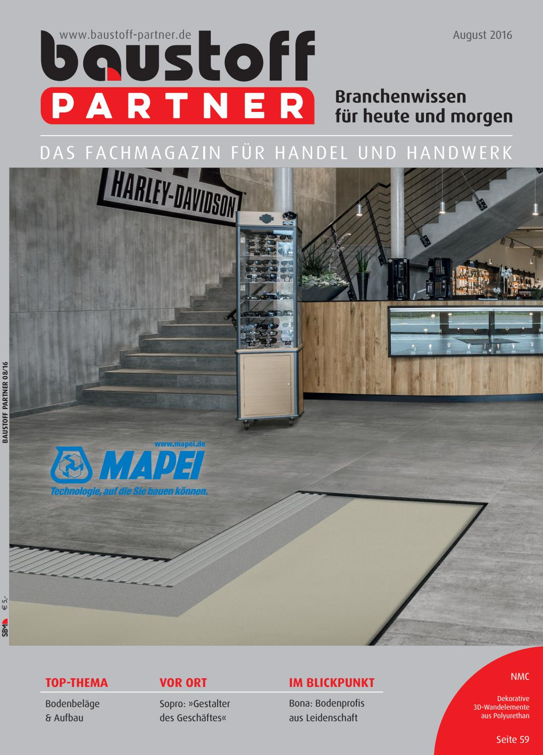 Baustoff-Partner August 2016 by SBM Verlag GmbH - issuu