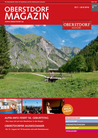 Oberstdorf Magazin 08/18