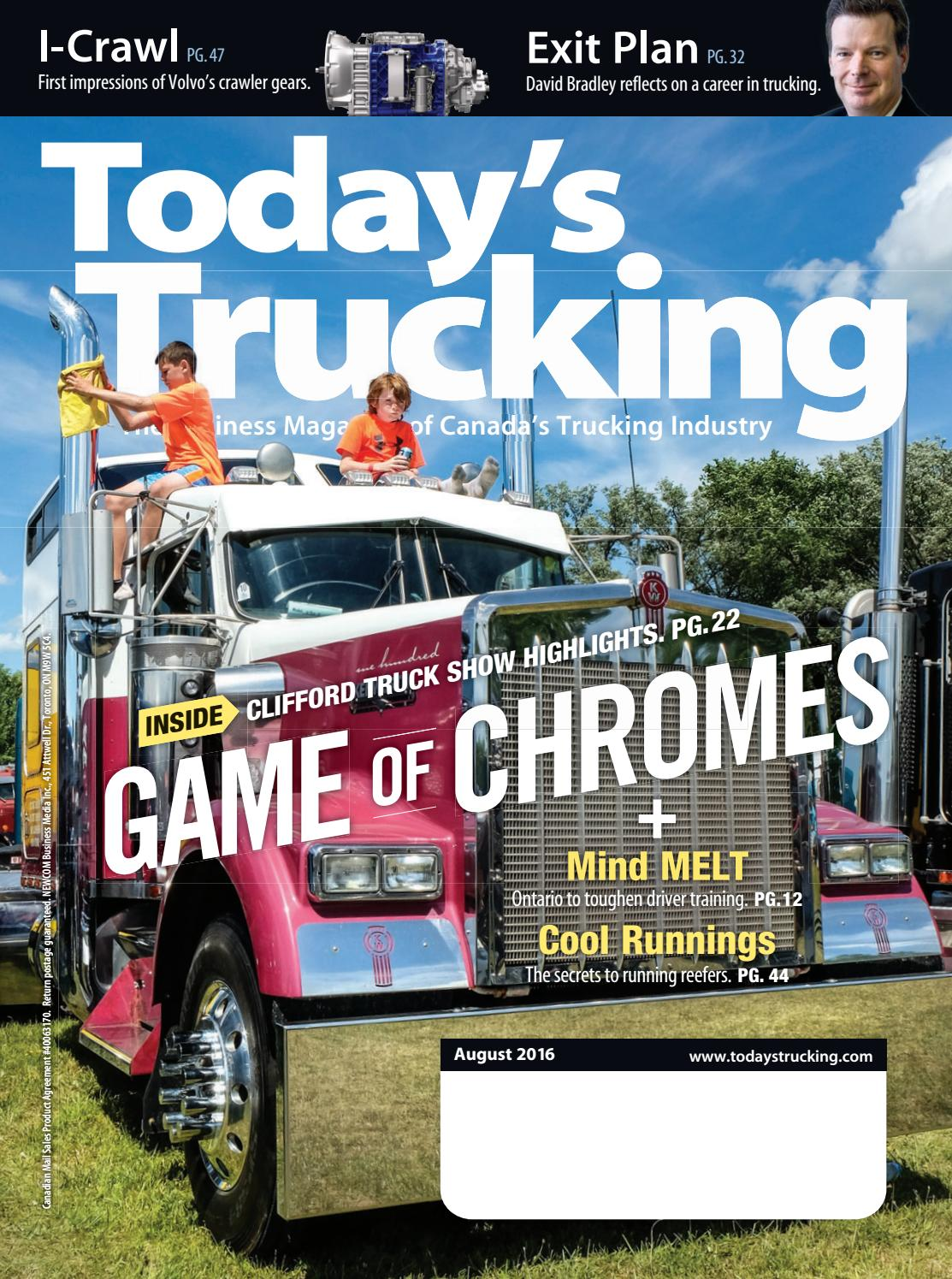 Today's trucking august 2016 by Augusto Dantas - issuu