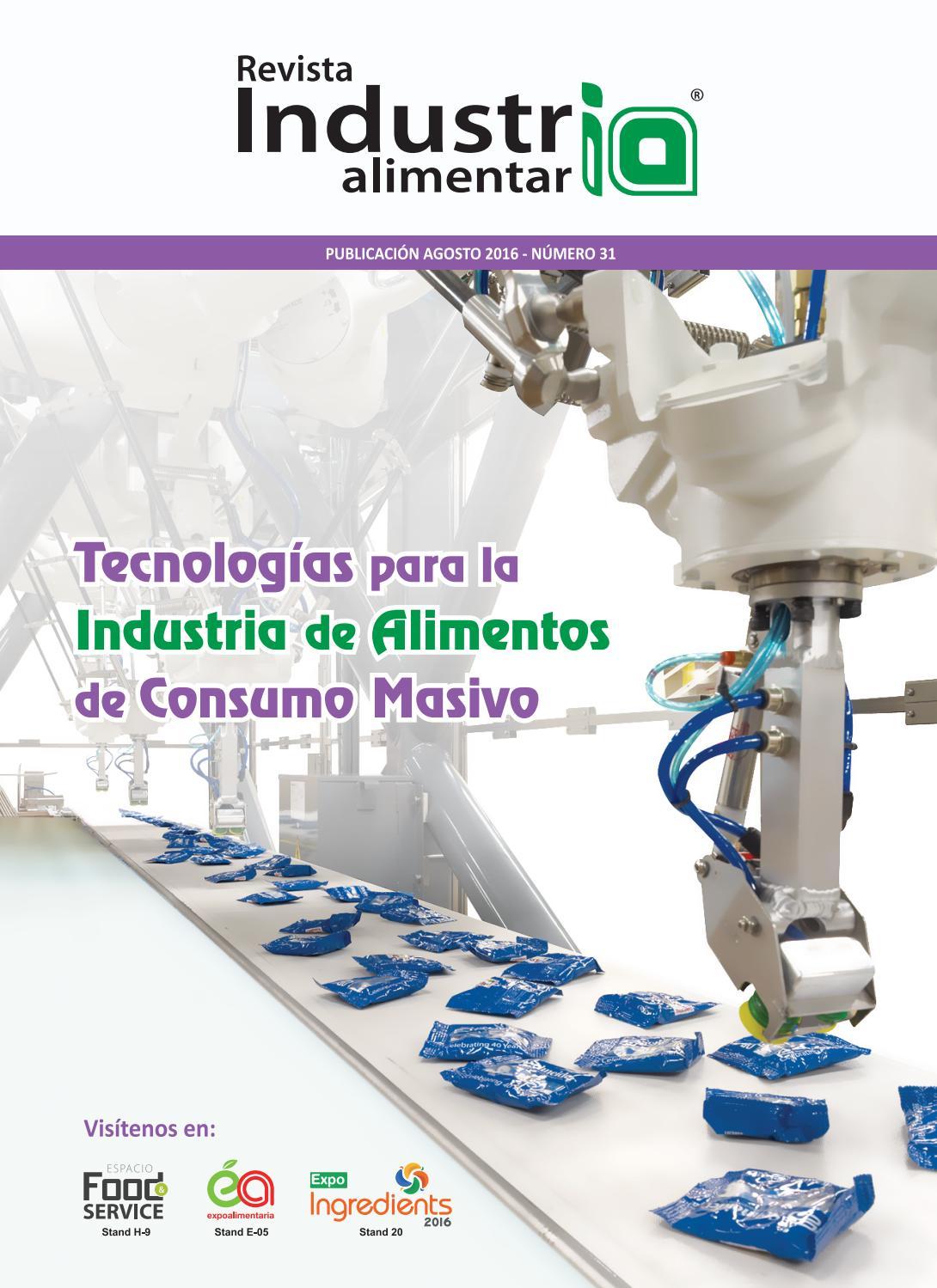 Revista industria alimentaria n 31 by revista industria for Programa de limpieza y desinfeccion en industria alimentaria