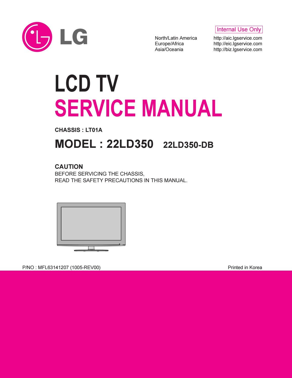 manual de servi o tv lg 22ld350 db chassis lt01a by portal. Black Bedroom Furniture Sets. Home Design Ideas