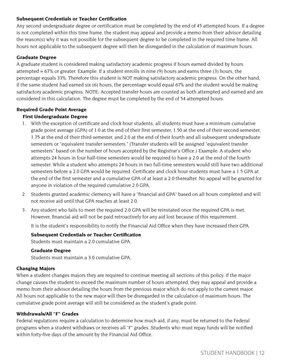 Gpa Calculator Cameron University Student Handbook 2016 By Arkansas Tech  University (page 17) Issuu