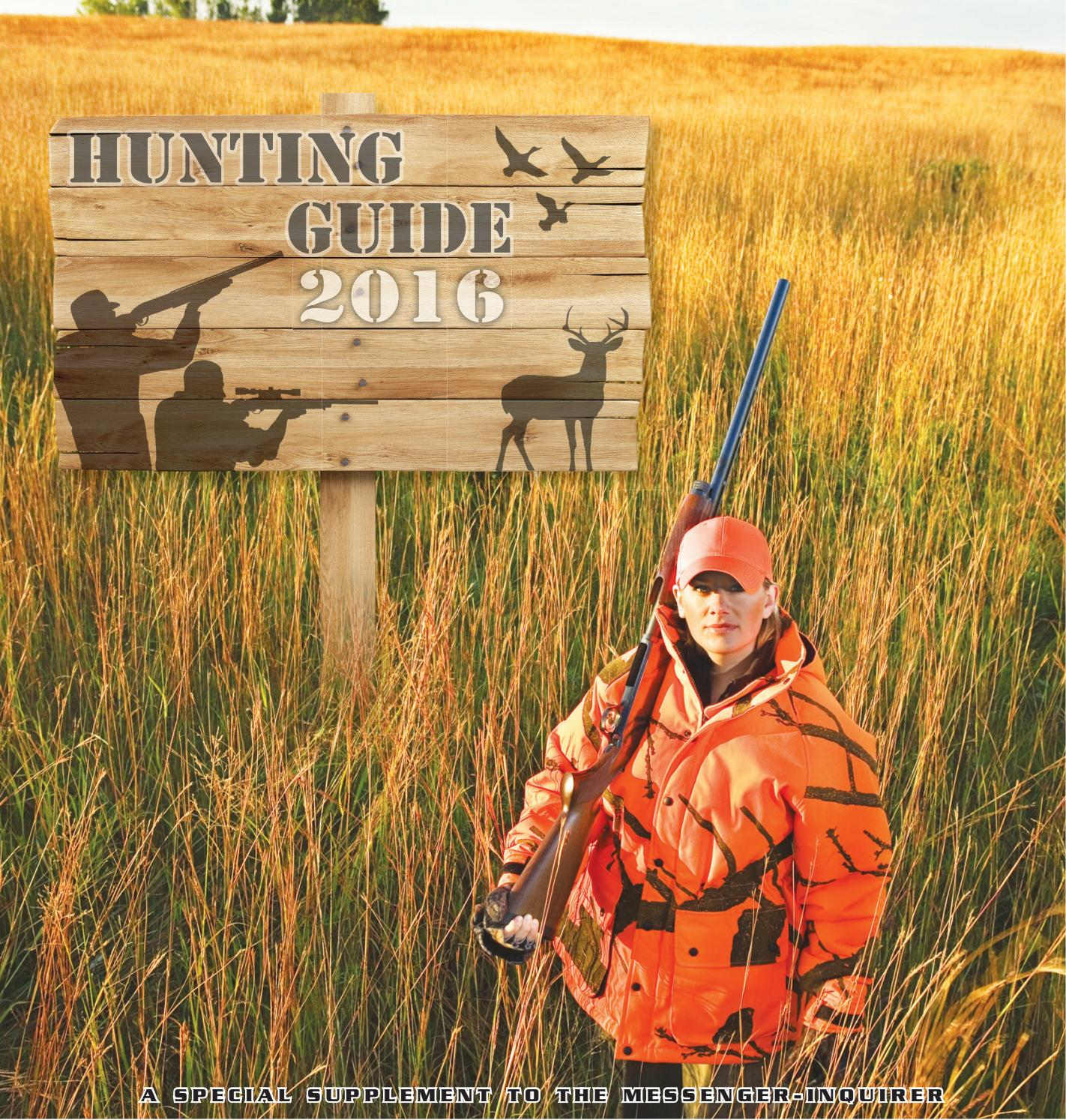 2016 hunting guide by messenger inquirer issuu for Kmart fishing license