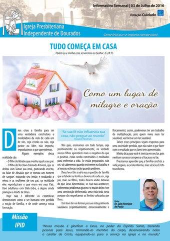 Boletim Informativo IPID     03 de Julho de 2016