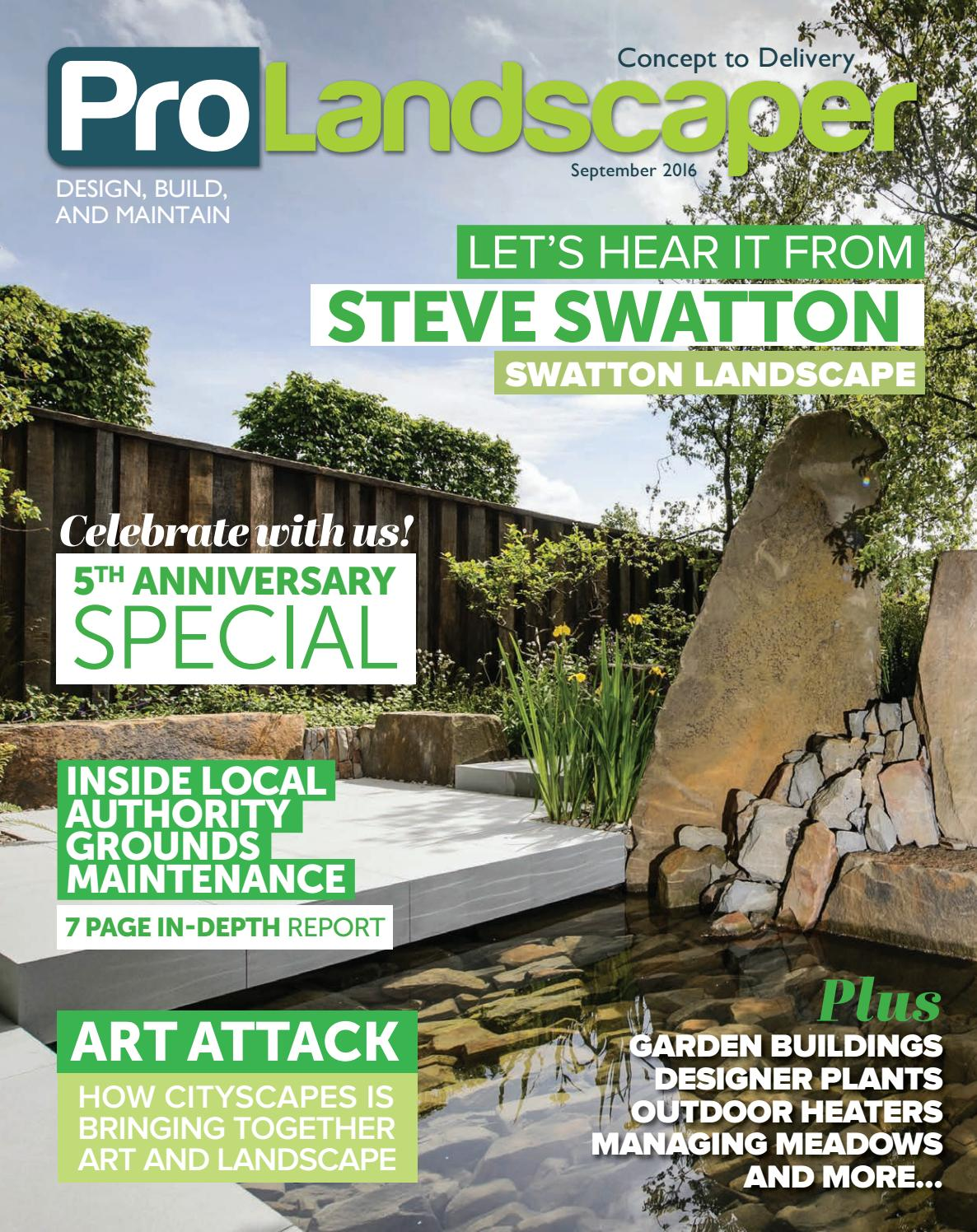 Pro Landscaper January 2016 By Eljays44 Issuu