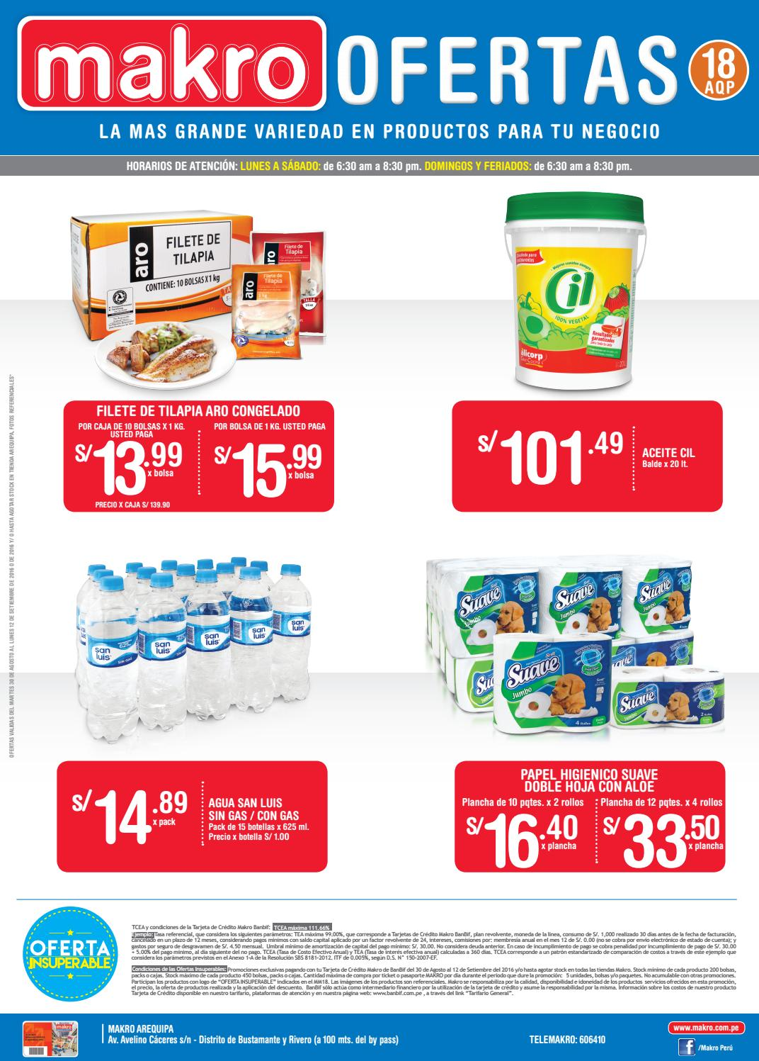 Encarte makro arequipa 18 by makro peru makro issuu for Horario peru wellness