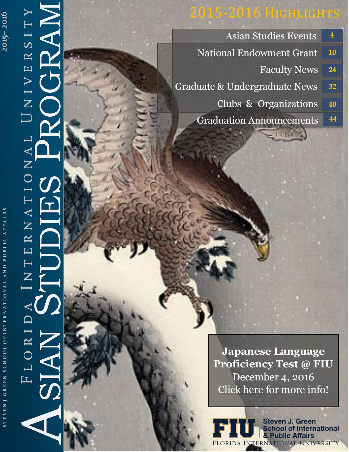 fiu s asian studies program newsletter by asian studies fiu s asian studies program newsletter 2015 2016 by asian studies issuu