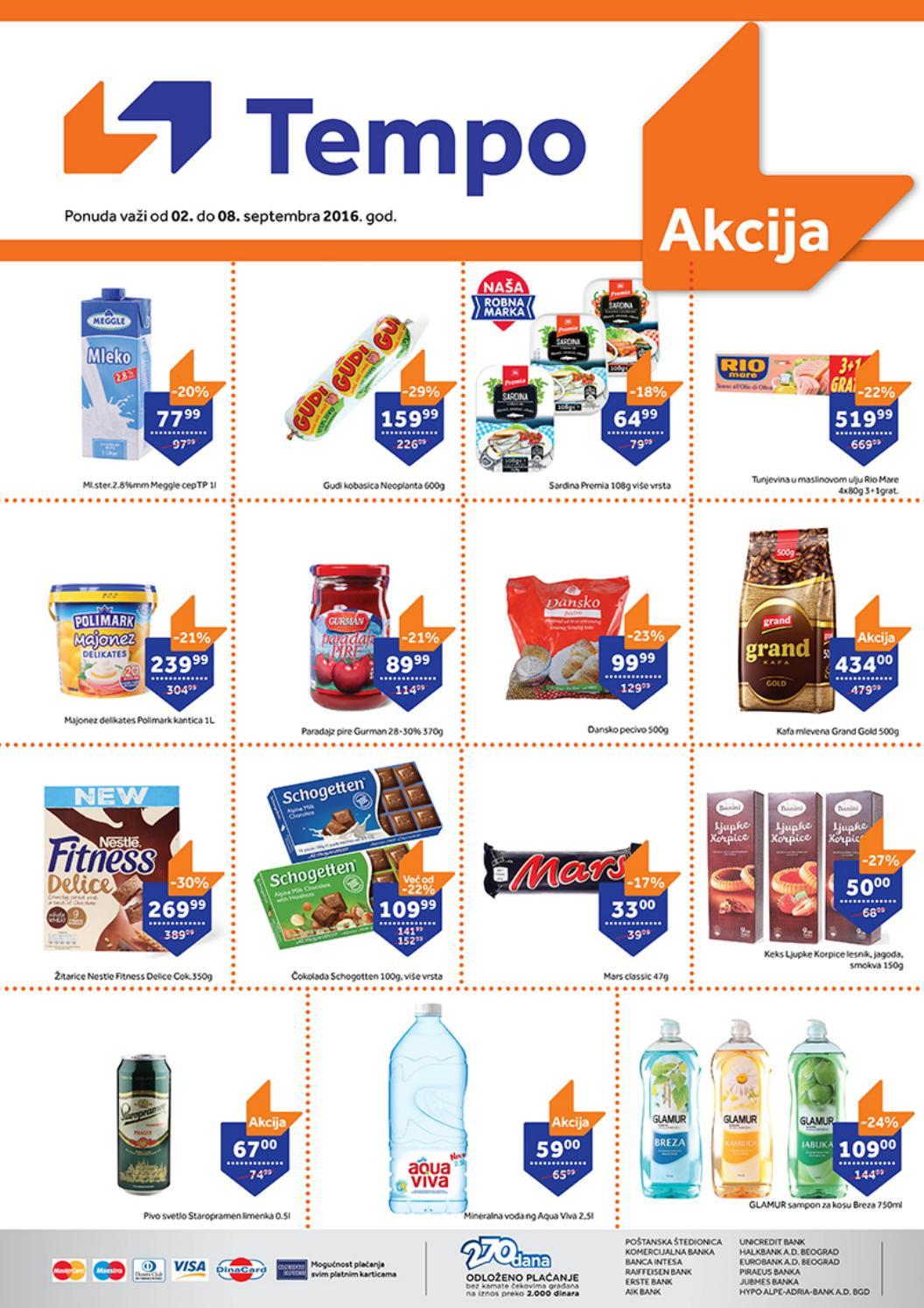 Nova nedeljna akcija od 02.- 08.09.2016. u TEMPO supermarketima.