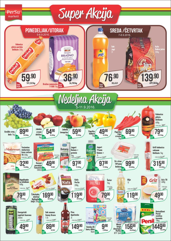 Nova PerSu nedeljna akcija i nove super cene od 05.- 11.09.2016.
