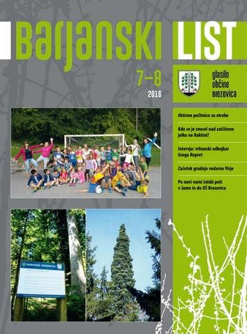 Barjanski list julij - avgust 2016