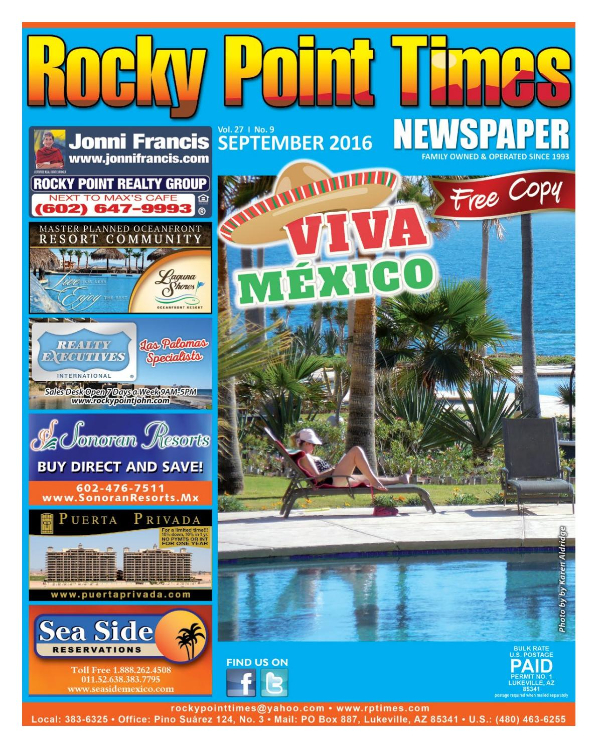 Rocky Point Times August 2016 By Rocky Point Services Issuu