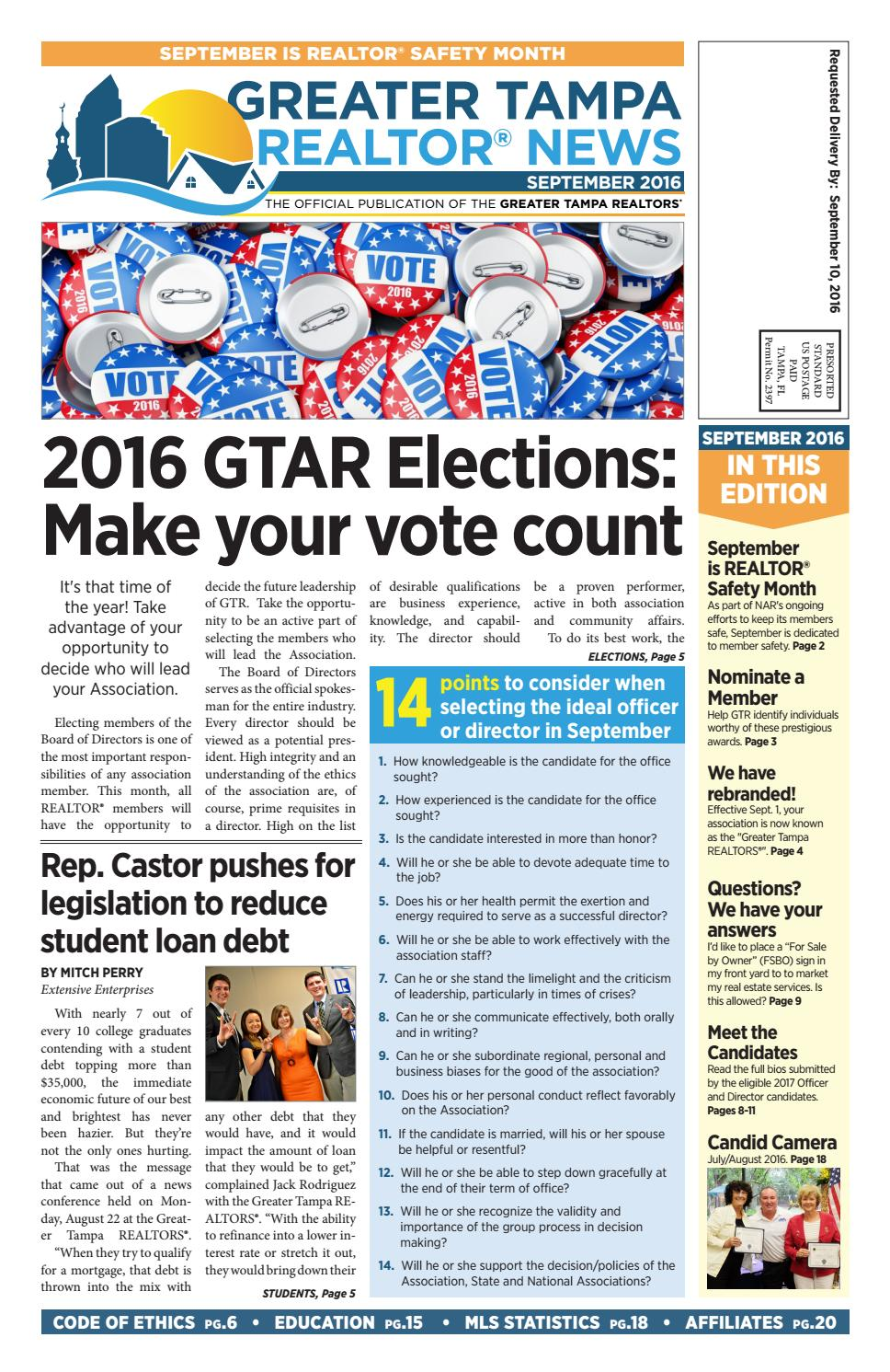 greater tampa realtor news august 2016 by greater tampa realtors issuu