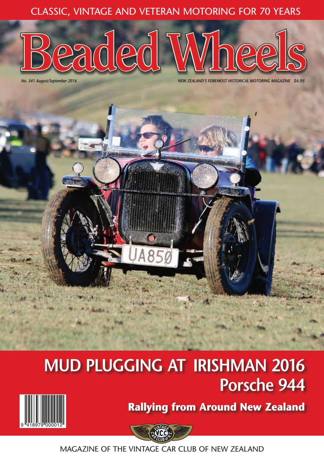 Beaded Wheels August September 2016 By Vintage Car Club Of