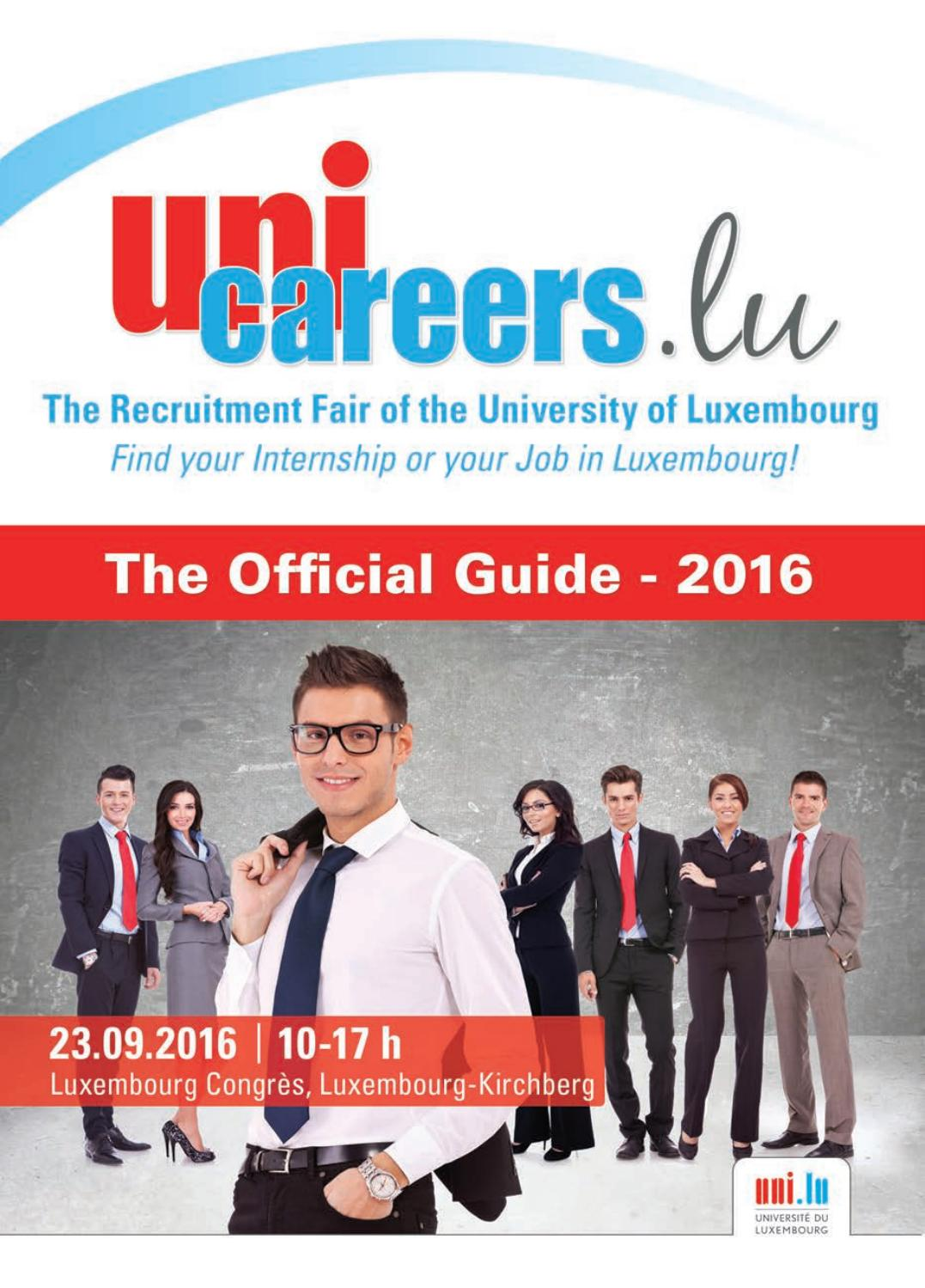 the official guide unicareerslu 2016 by moovijob issuu
