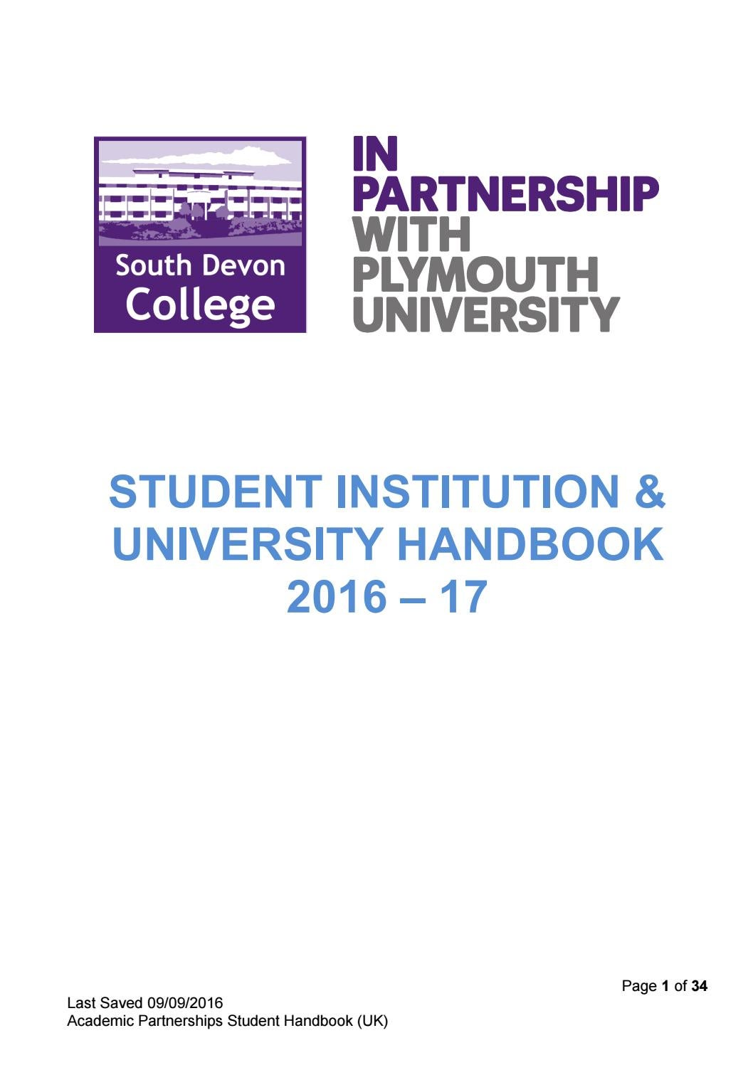 University Of Plymouth Coursework Cover Sheet