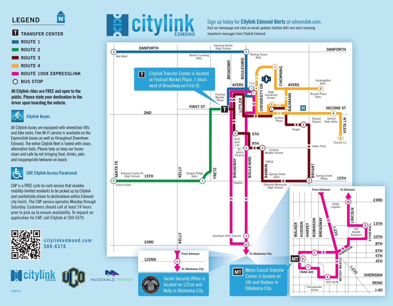 Citylink Edmond Schedule By City Of Edmond Issuu