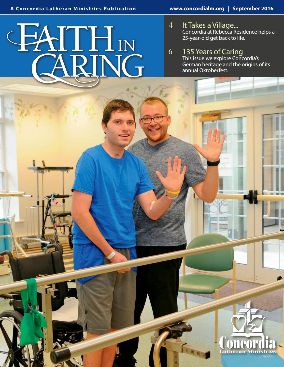 faith in caring by concordia lutheran ministries issuu faith in caring 16