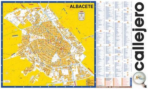 Plano de Albacete Capital 2016 Cara B