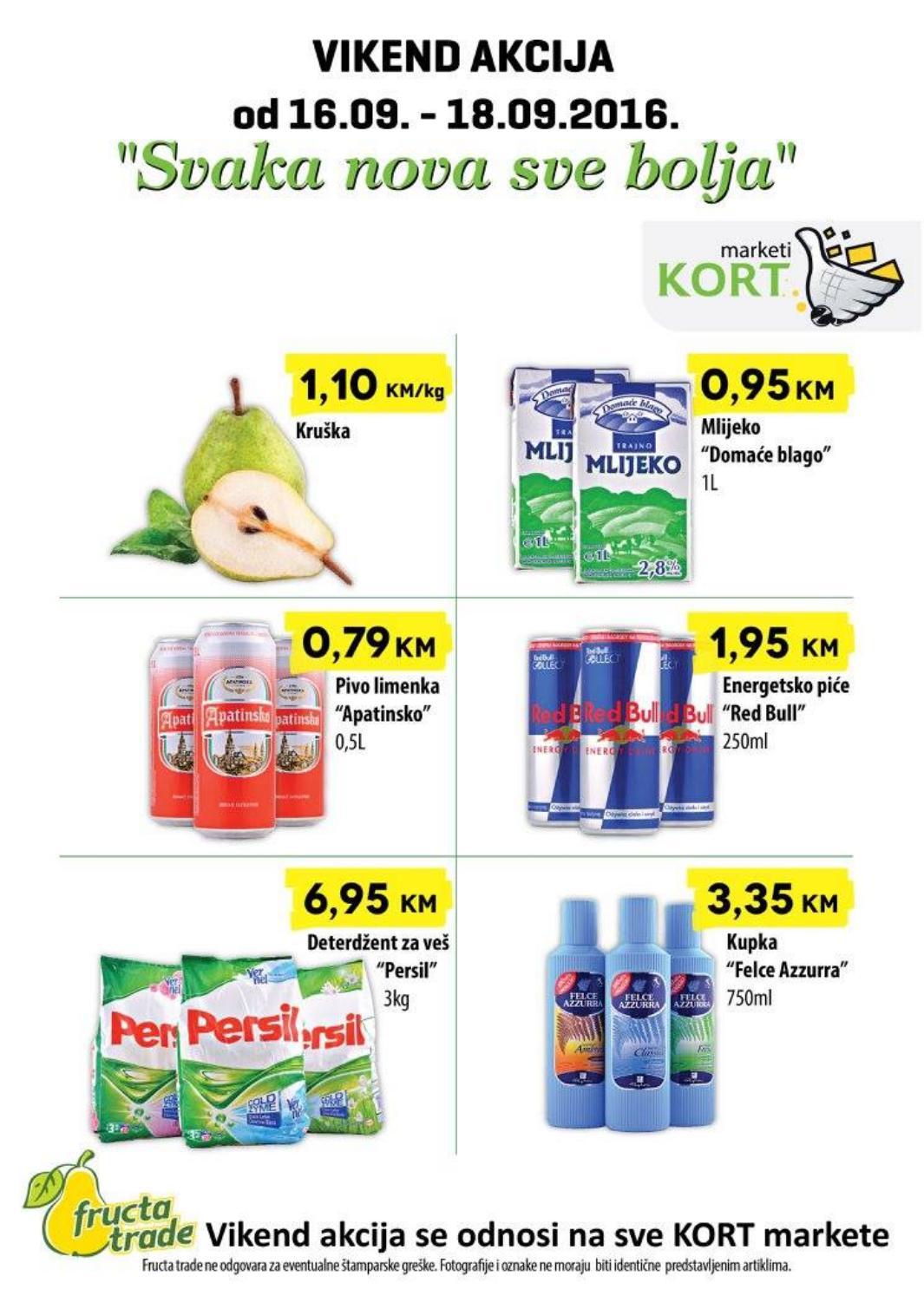 Svaka nova sve bolja, uvjerite se u najniže cijene. Nova vikend akcija u Kort supermarketima od 16.- 18.09.2016.