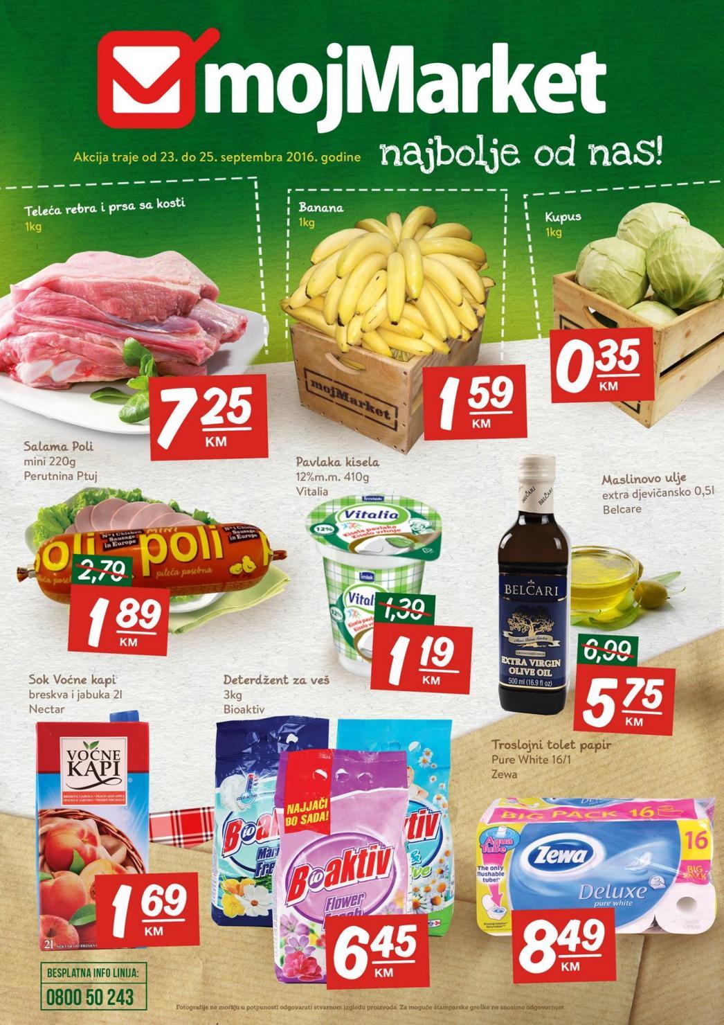 Nova vikend akcija i nove super cijene od 23.- 25.09.2016. u mojMrket supermarketima!
