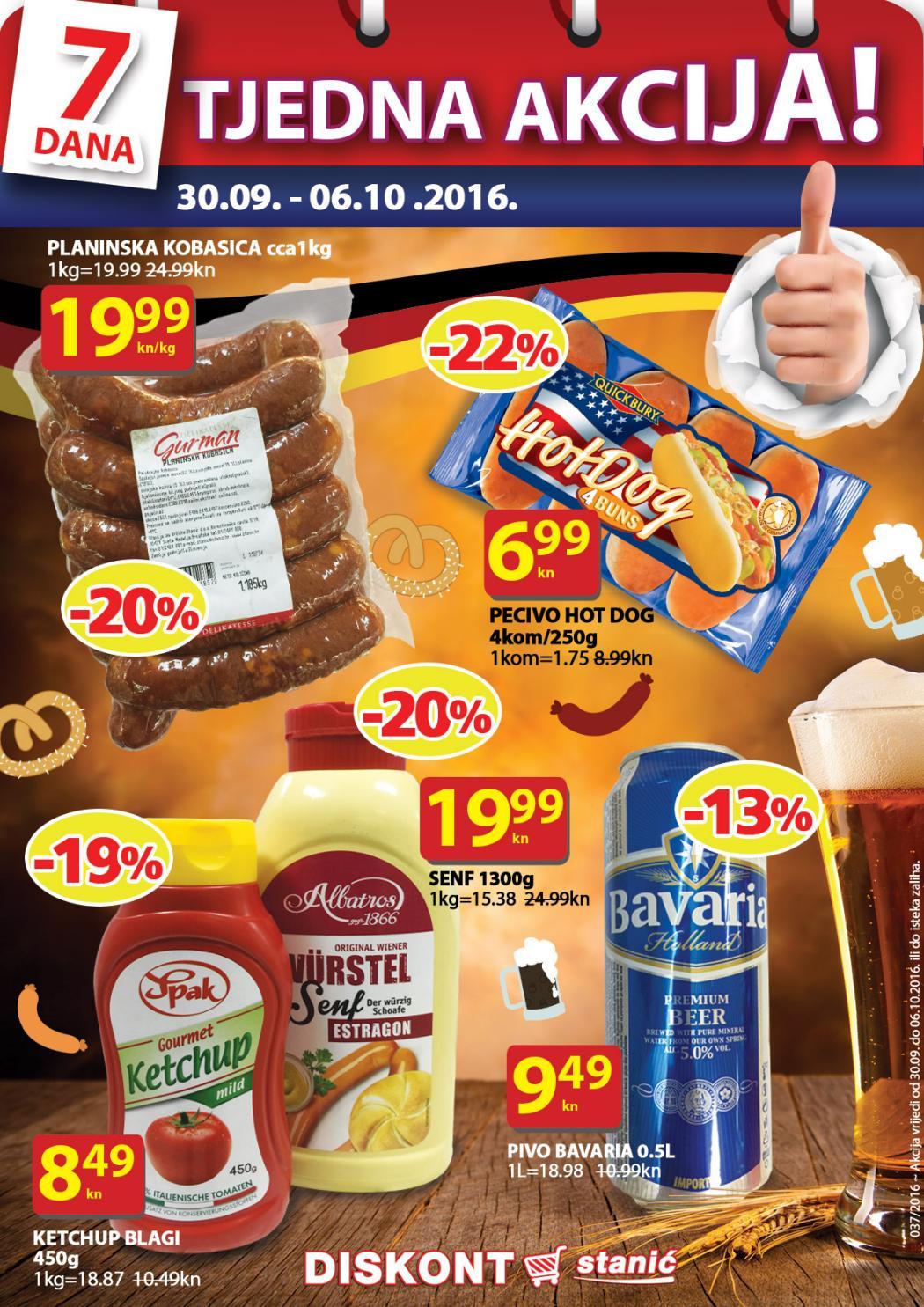 Nova tjedna ponuda u Stanić diskontima od 30.09.- 06.10.2016. Iskoristite nove super cijene svježih, konzerviranih i smrznutih prehrambenih proizvoda.