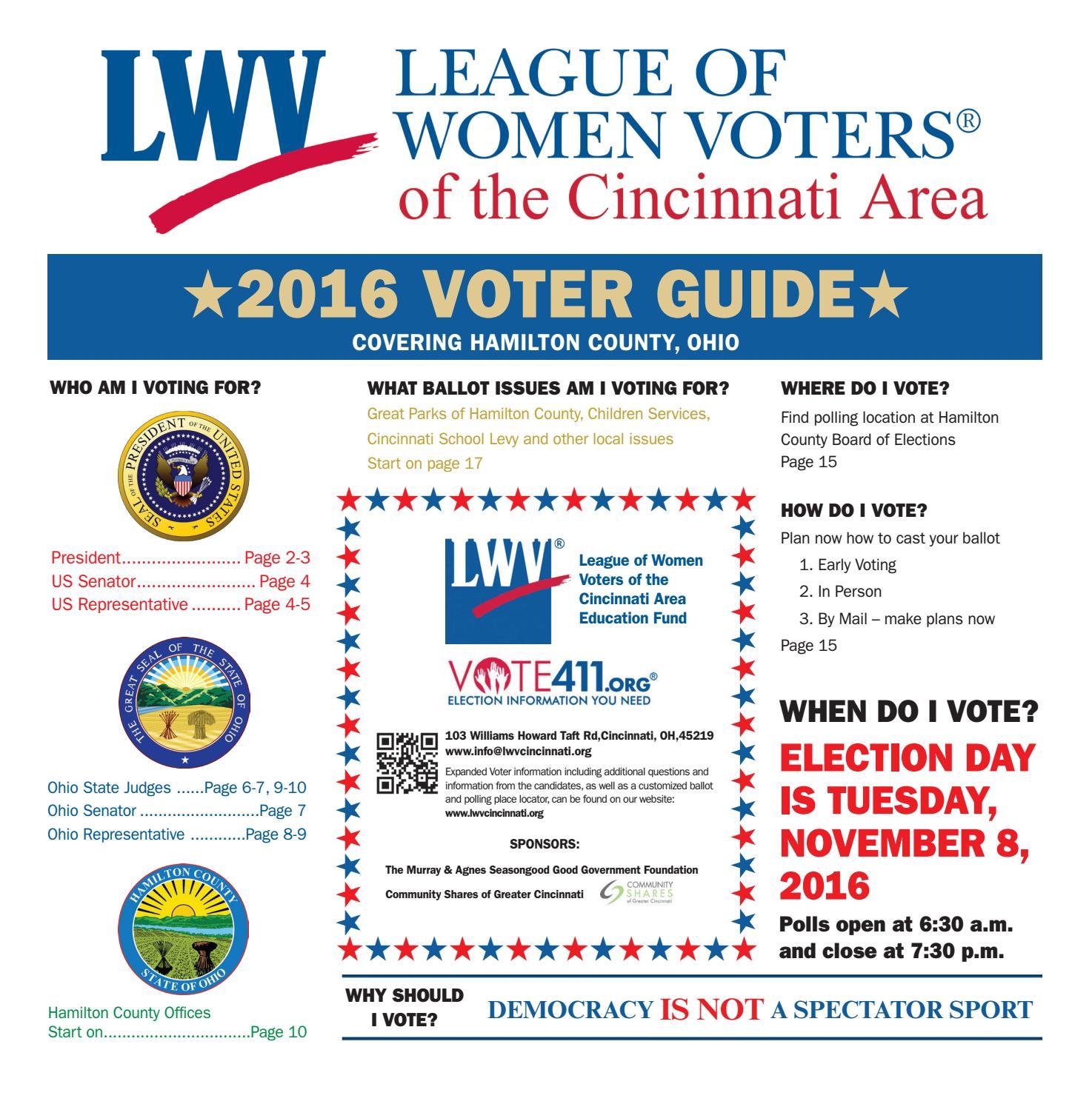 League of Women Voters 2016 Election Guide by Cincinnati ...