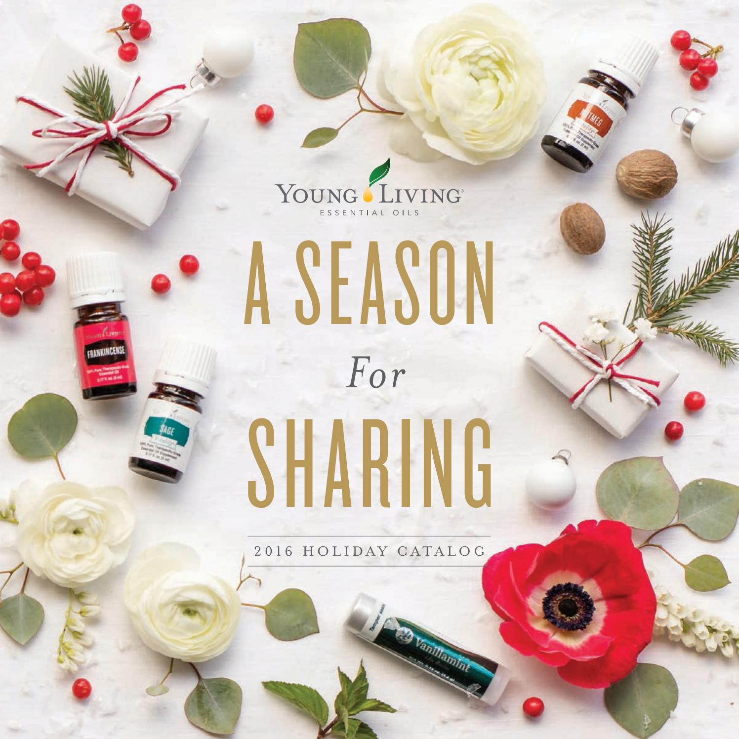 2016 Holiday Catalog By Young Living Essential Oils