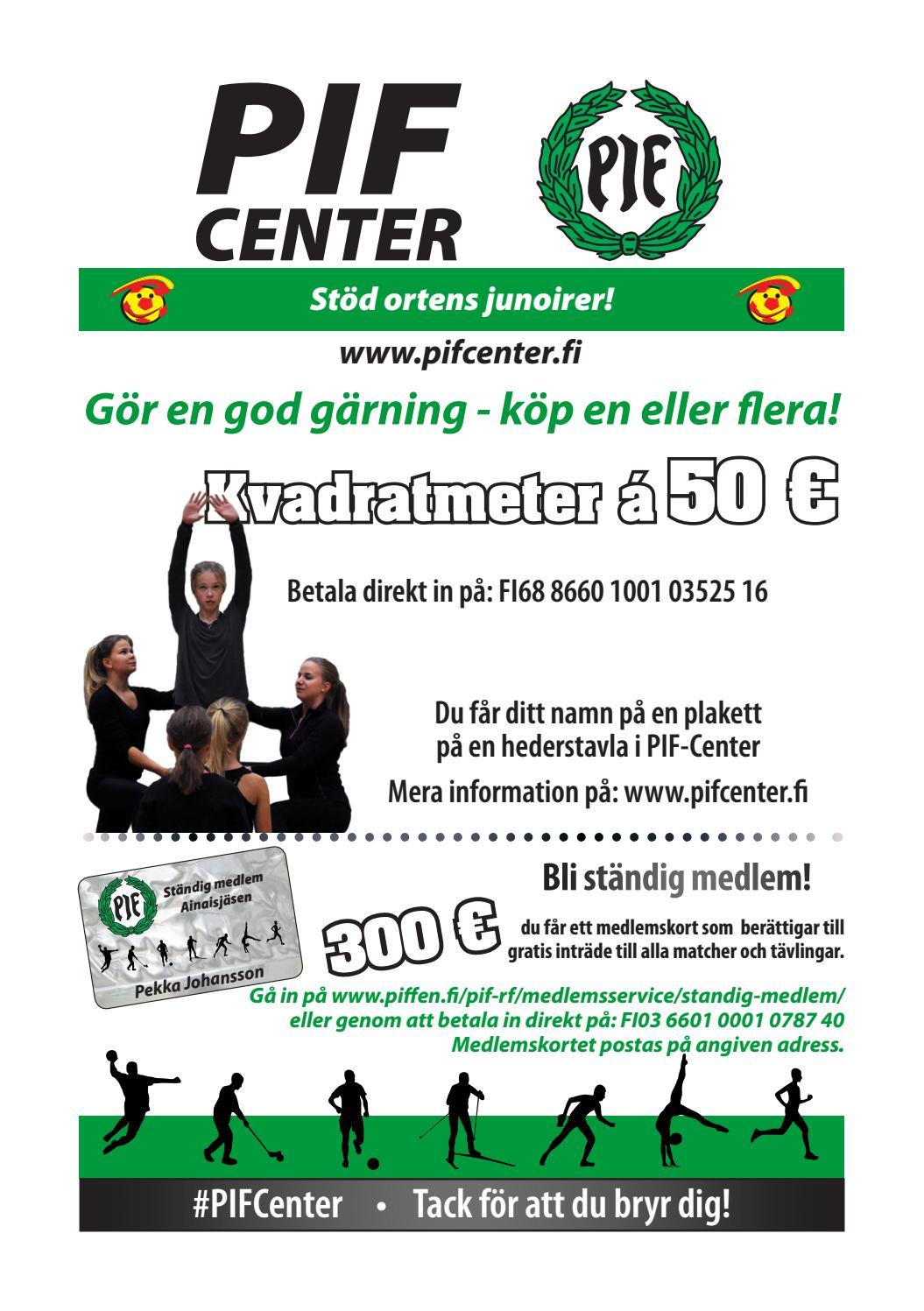 PIF-Center för privatpersoner by Pargas IF - issuu