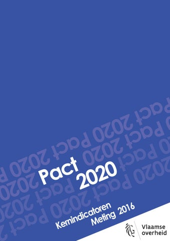 Pact 2020. Kernindicatoren. Meting 2016