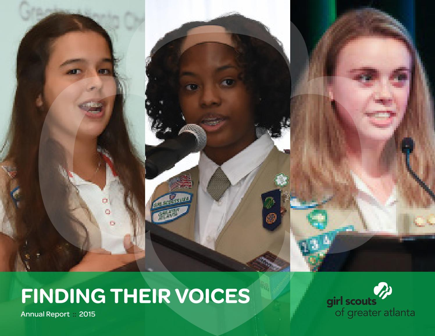 girl scouts of greater atlanta s 2015 annual report by